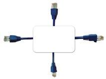 Fundo dos conectores da rede imagem de stock