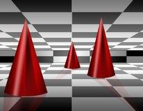 fundo dos cones 3d Fotos de Stock Royalty Free
