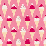 Fundo dos cones de gelado Fotografia de Stock