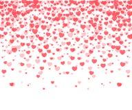 Fundo dos confetes dos corações Fotos de Stock