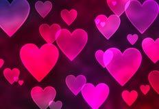 Fundo dos corações Fotografia de Stock