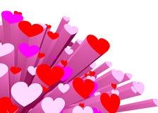 Fundo dos corações Foto de Stock