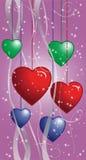 Fundo dos corações Fotos de Stock Royalty Free