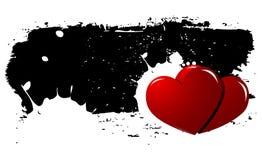 Fundo dos corações de Grunge Foto de Stock Royalty Free