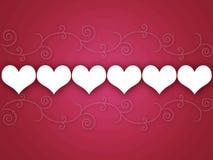 Fundo dos corações de Swirly Ilustração Royalty Free