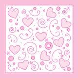 Fundo dos corações do amor Foto de Stock