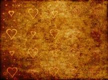 Fundo dos corações do Grunge Foto de Stock