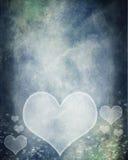 Fundo dos corações do Grunge Fotografia de Stock