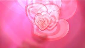 Fundo dos corações do movimento video estoque