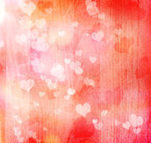 Fundo dos corações do Valentim ilustração royalty free
