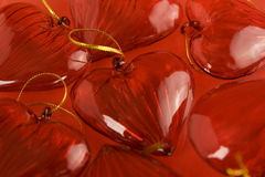 Fundo dos corações do Valentim Imagens de Stock