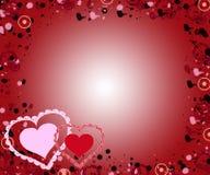 Fundo dos corações do Valentim ilustração do vetor