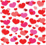 Fundo dos corações do vetor Fotos de Stock Royalty Free
