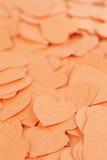 Fundo dos corações dos confetes Fotos de Stock Royalty Free
