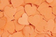 Fundo dos corações dos confetes Fotografia de Stock