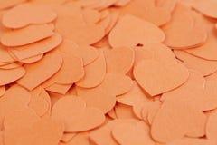 Fundo dos corações dos confetes Foto de Stock Royalty Free