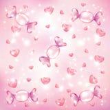 Fundo dos corações dos doces ilustração do vetor
