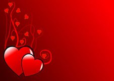 Fundo dos corações dos Valentim Foto de Stock Royalty Free