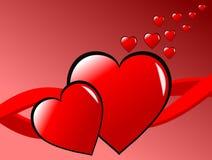 Fundo dos corações dos Valentim Fotografia de Stock