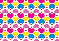Fundo dos corações em cores do pop art fotografia de stock royalty free