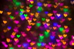 Fundo dos corações Imagem abstrata no dia e no amor do ` s do Valentim foto de stock royalty free