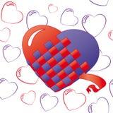 Fundo dos corações isolado no branco Fotos de Stock Royalty Free