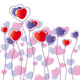 Fundo dos corações isolado no branco Fotografia de Stock