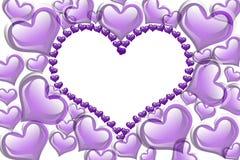 Fundo dos corações roxos Foto de Stock