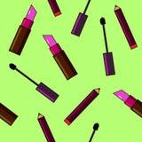 Fundo dos cosméticos Ilustração lisa Fotografia de Stock Royalty Free