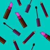 Fundo dos cosméticos Ilustração lisa do vetor Foto de Stock