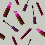 Fundo dos cosméticos Ilustração lisa do vetor Fotos de Stock