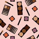 Fundo dos cosméticos Ilustração lisa do vetor Imagens de Stock