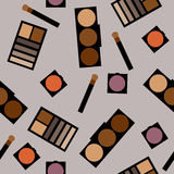 Fundo dos cosméticos Ilustração lisa do vetor Fotos de Stock Royalty Free
