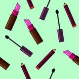 Fundo dos cosméticos Ilustração lisa do vetor Fotografia de Stock Royalty Free