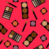 Fundo dos cosméticos Ilustração lisa do vetor Imagens de Stock Royalty Free