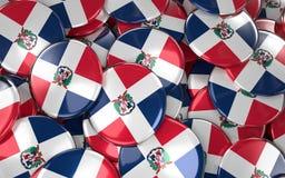 Fundo dos crachás da República Dominicana - pilha do Dominican Republ ilustração stock