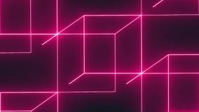Fundo dos cubos das luzes de néon filme