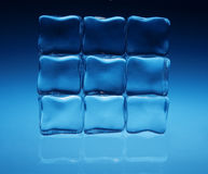 Fundo dos cubos de gelo Imagem de Stock Royalty Free