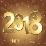 fundo dos cumprimentos do ano novo feliz 2018 Ilustração Royalty Free