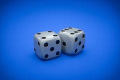 Fundo dos dados do casino Fotos de Stock