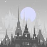 Fundo dos desenhos animados da cidade árabe Vetor Foto de Stock Royalty Free