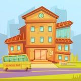 Fundo dos desenhos animados da escola Fotografia de Stock Royalty Free