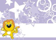 Fundo dos desenhos animados do bebê do leão Fotos de Stock
