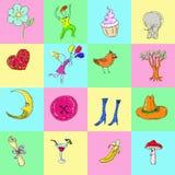 Fundo dos desenhos animados do divertimento ilustração royalty free