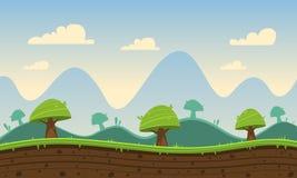 Fundo dos desenhos animados do jogo Foto de Stock