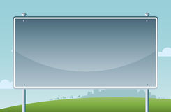 Fundo dos desenhos animados do sinal de estrada Imagens de Stock Royalty Free