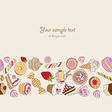 Fundo dos doces com lugar para seu texto Foto de Stock