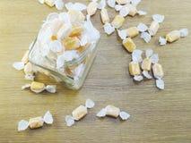 Fundo dos doces do taffy do leite doce imagem de stock royalty free