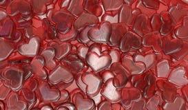 Fundo dos doces dos corações ilustração royalty free