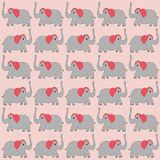 Fundo dos elefantes dos desenhos animados Foto de Stock